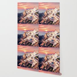 Santorini Sunset View Wallpaper