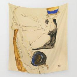 "Egon Schiele ""Zwei Liegende Figuren"" Wall Tapestry"