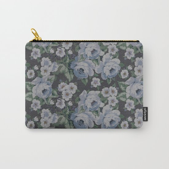 Floral Mozaic Pattern Carry-All Pouch