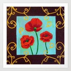 Poppies-4 Art Print