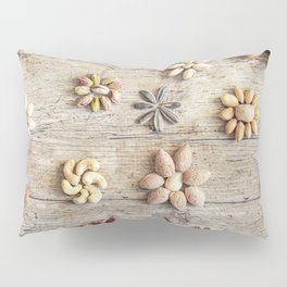 Dried fruits arranged forming flowers (4) Pillow Sham