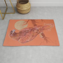 Golden Eagle Fancy Illustration of fairy tale Pastel drawing Rug