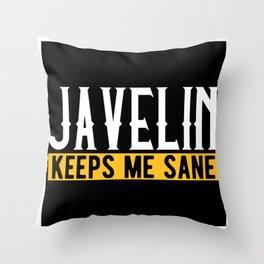 Javelin Throw Lover Gift Idea Design Motif Throw Pillow