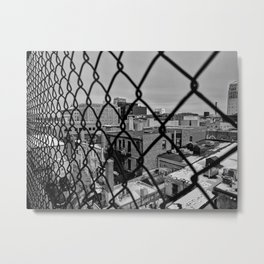 A Squared Cage Metal Print