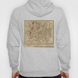 Vintage Map of Yellowstone National Park (1881) Hoody