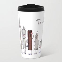 Toronto skyline art print Travel Mug