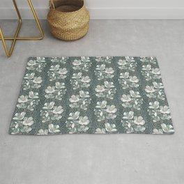 Jasmine Bloom, Vintage Floral Pattern, Gray Taupe White Rug