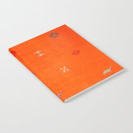 -A10- Traditional Anthropologie Moroccan orange Artwork. Notebook