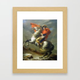 Lego: Napoleon Crossing the Saint-Bernard Framed Art Print