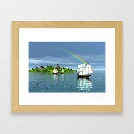 Reise zur Insel Framed Art Print