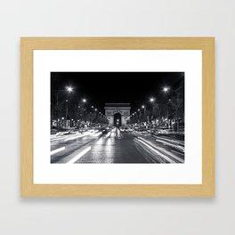 The Arc de Triomphe de l'Étoile Framed Art Print