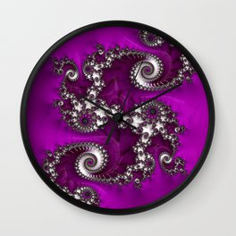 Purple Dragon Wall Clock