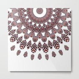 3D etno kaleidoscope Metal Print
