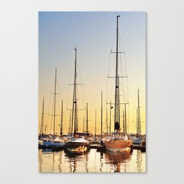 Luxury Sunset Sailing Canvas Print
