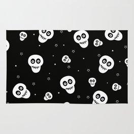 Skull and Stars Pattern Rug