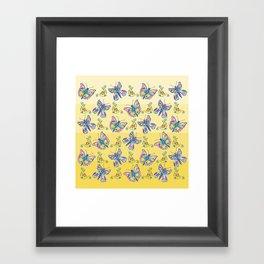Butterflies and Flowers Framed Art Print