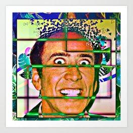 Nicolas caged Art Print