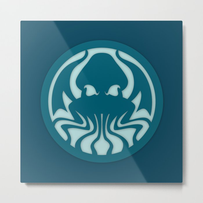 Myths & monsters: Cthulhu Metal Print