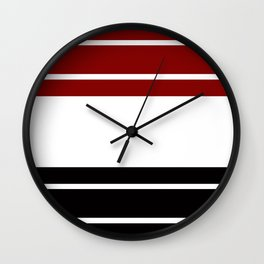TEAM COLORS 9 .... Maroon, black and white Wall Clock