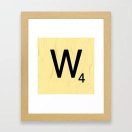 Scrabble Q Initial - Large Scrabble Tile Letter Framed Art Print