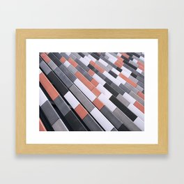 Repeating Tiles Framed Art Print