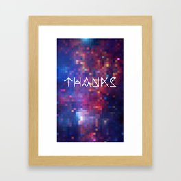 Galactic Squares #1 Thank You Card Framed Art Print