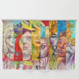 Female Faces Portrait Collage Design 1 Wall Hanging