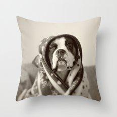 Obi Wan (Buck the world's most lovable boxer dog) Throw Pillow