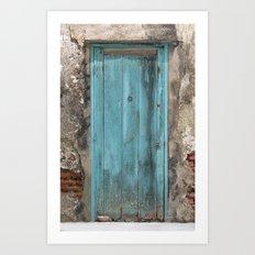 Positano Door Art Print