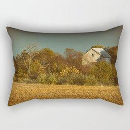 Abandoned Barn Colorized Landscape Photo Rectangular Pillow