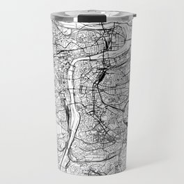 Prague White Map Travel Mug