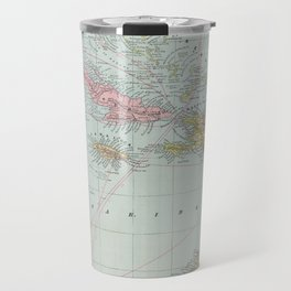 Vintage Map of The Caribbean (1889) Travel Mug