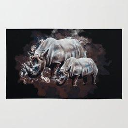 Dangerous Rhino Rug