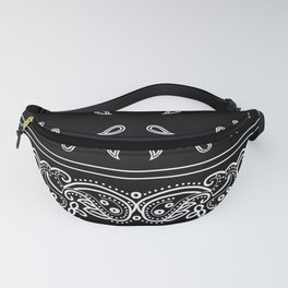 Black & White Bandana Fanny Pack