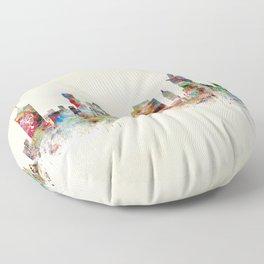 tulsa oklahoma skyline Floor Pillow