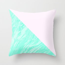 Green Marble Geometric Throw Pillow