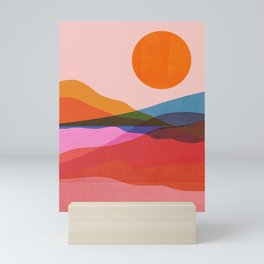 Abstraction_OCEAN_Beach_Minimalism_001 Mini Art Print