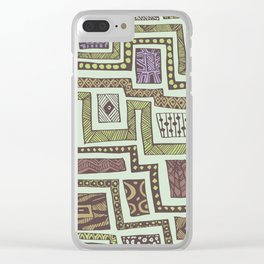 pre-Columbian stamps Clear iPhone Case