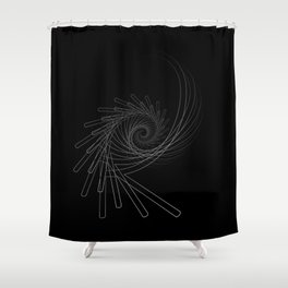 """""""Fly Collection"""" - Abstract Minimal Letter R Print Shower Curtain"""