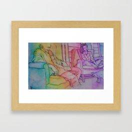psychedelic porch dwelling Framed Art Print