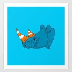 Rhino Video Player Art Print