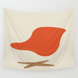 Orange La Chaise Chair by Charles & Ray Eames Wall Tapestry