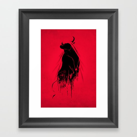 Revenge Of The Toro Framed Art Print