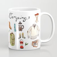 backpack Mugs featuring Let's Go Camping by Brooke Weeber
