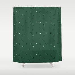 Floral Abstract Dark Green #emerald #green #home #decor #kirovair #holidays #floral #pattern Shower Curtain