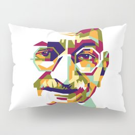 Mahatma Gandhi in colorful popart style Pillow Sham