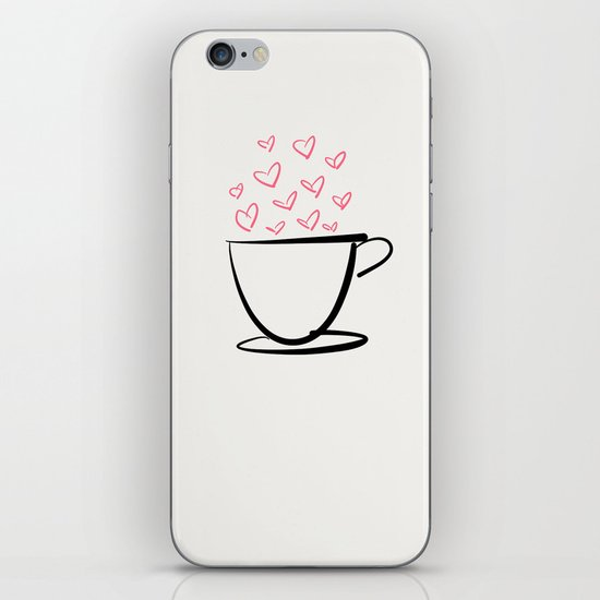 coffee love iPhone & iPod Skin