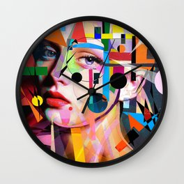 SHE LOVES COLORS Wall Clock