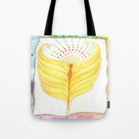 angel wings Tote Bags featuring Angel Wings  by ChristiaSoulArt