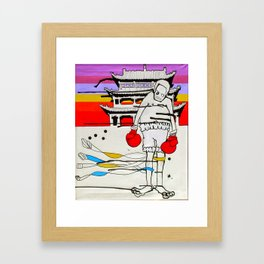 Boxer Framed Art Print